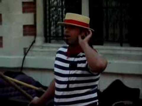Gondolier singing at the Venetian