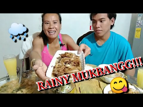 MUKBANG||FILIPINO FOOD/BANGUS KINILAW,PORKCHOP STEAK,GINISANG MONGO,TUYO,SWEET BANANA,CHICKEN SOUP