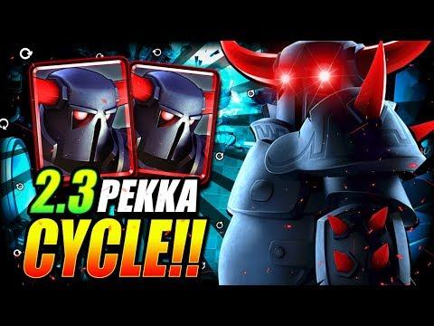 2.3 ELIXIR FASTEST PEKKA CYCLE DECK EVER!! IT'S UNREAL!