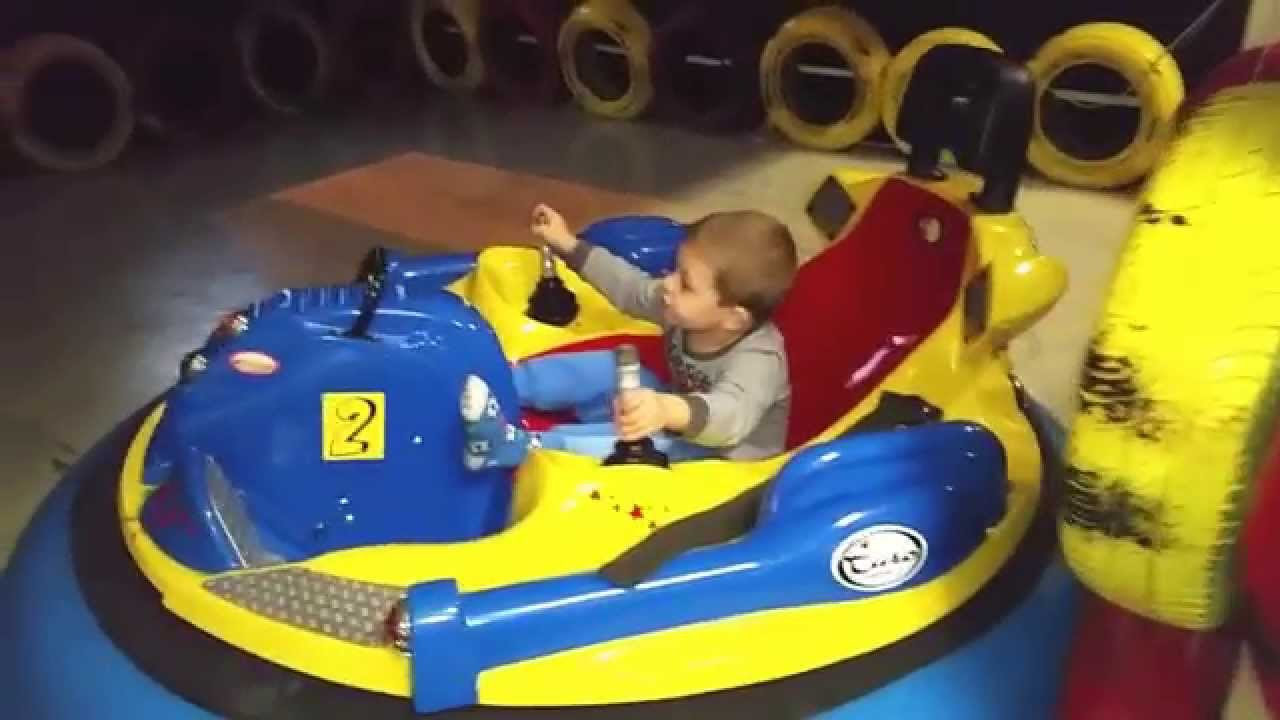 Indoor Playground For Kids With Inflatable Bumper Cars Youtube