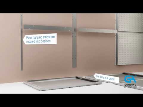 Installing Gooding Aluminium Wall Cladding Wc2 Panels