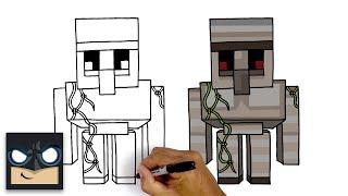 How To Draw Iron Golem | Minecraft