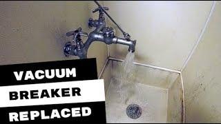 vacuum breaker repair kit installed