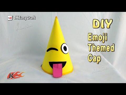 DIY Emoji Birthday Paper Cap Tutorial | JK Easy Craft 222
