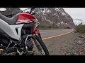 Viajando a montañas cerca del embalse del yeso en moto HONDA XR190 L con gopro