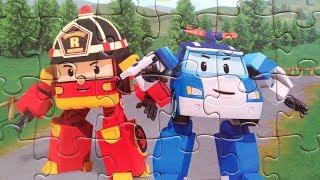 Робокар Поли и Рой собираем пазлы для детей | Merry Nika