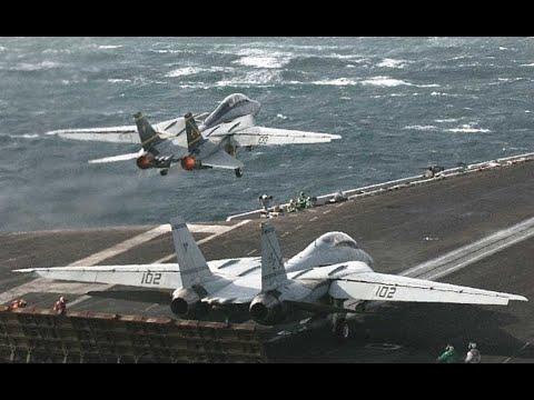 0 Pentágono libera vídeos de caças F-14 abatendo 2 MiG-23 da Líbia.