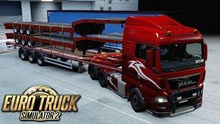 Nocny transport naczep - Euro Truck Simulator 2 | (#45)