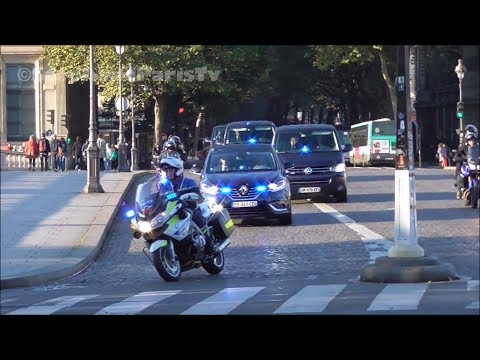 Police : convoy of the French Prime Minister