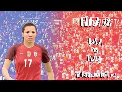 USA vs Italy | Women International Cup | FIFA 18 | Match #1