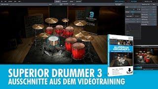 Toontrack Superior Drummer 3 - Einleitung und Ausschnitte aus dem Videotraining