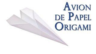 Avion de Papel de Origami que Vuela Muy Bien y Facilisimo