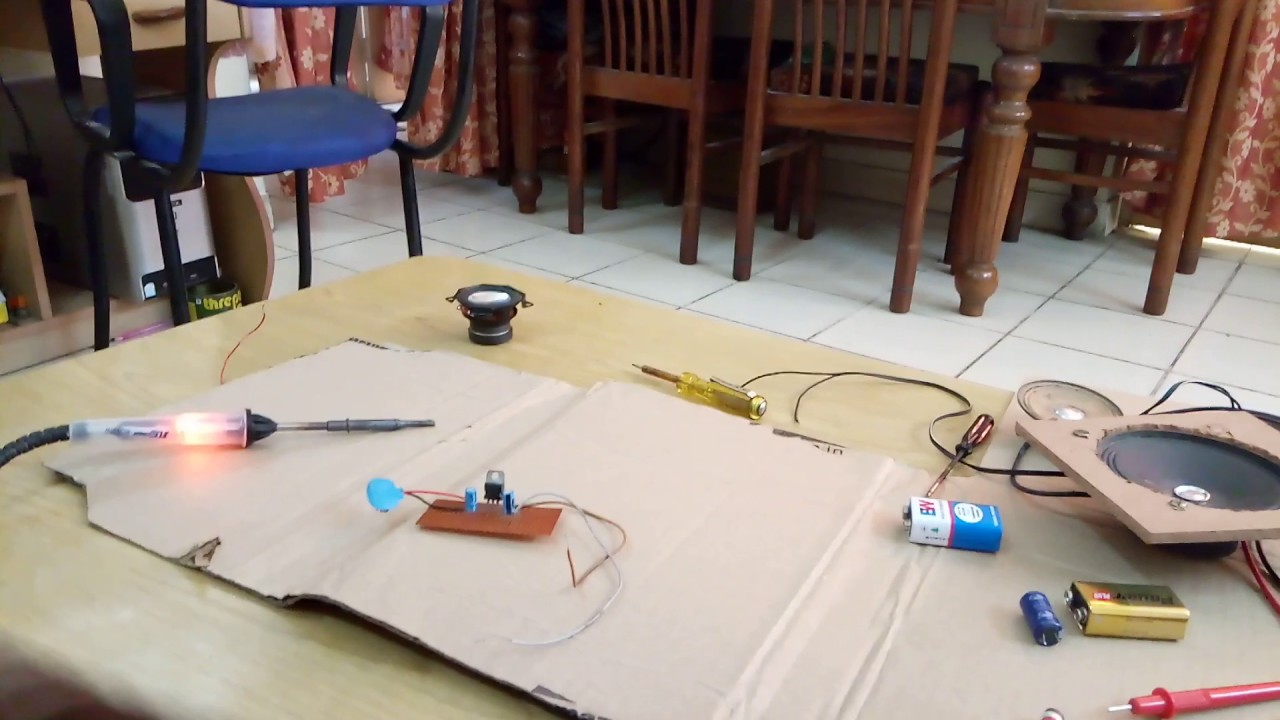 How To Convert 9v 12v Dc Voltage Into 6 Volt By Using Ic 7806 Tda2003 6v Converter Circuits