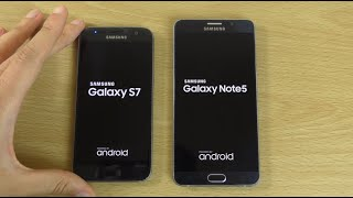 Samsung Galaxy Note 5 Android 6.0.1 Marshmallow VS Galaxy S7 - Speed Test!