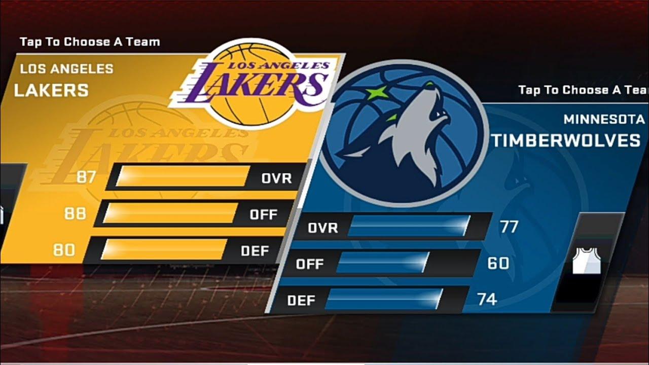 Los Angeles Lakers VS Minnesota Timberwolves | NBA 2K20 ...