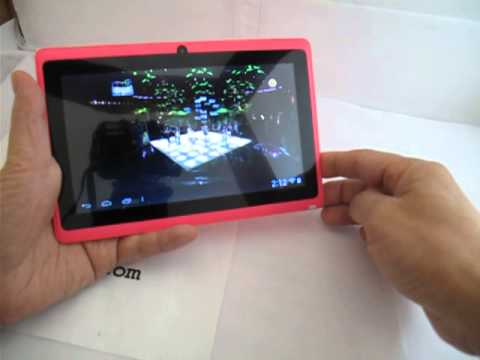 7.0 inch Y88 Touch Screen A5 Dual Core Dual Camera Android 4.1 Tablet PC