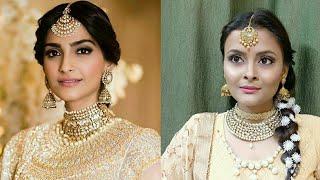 Sonam kapoor SANGEET / MEHANDI makeup look