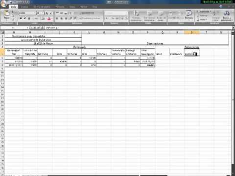 Tutorial para pago de nomina en excel youtube for Nomina en excel xls