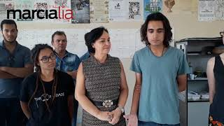 Márcia Lia visita Centro Acadêmico de História, na Unesp de Franca