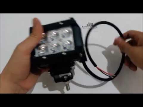 Luces Exploradoras LED Para Motos Carros Maquinaria 18W Spot