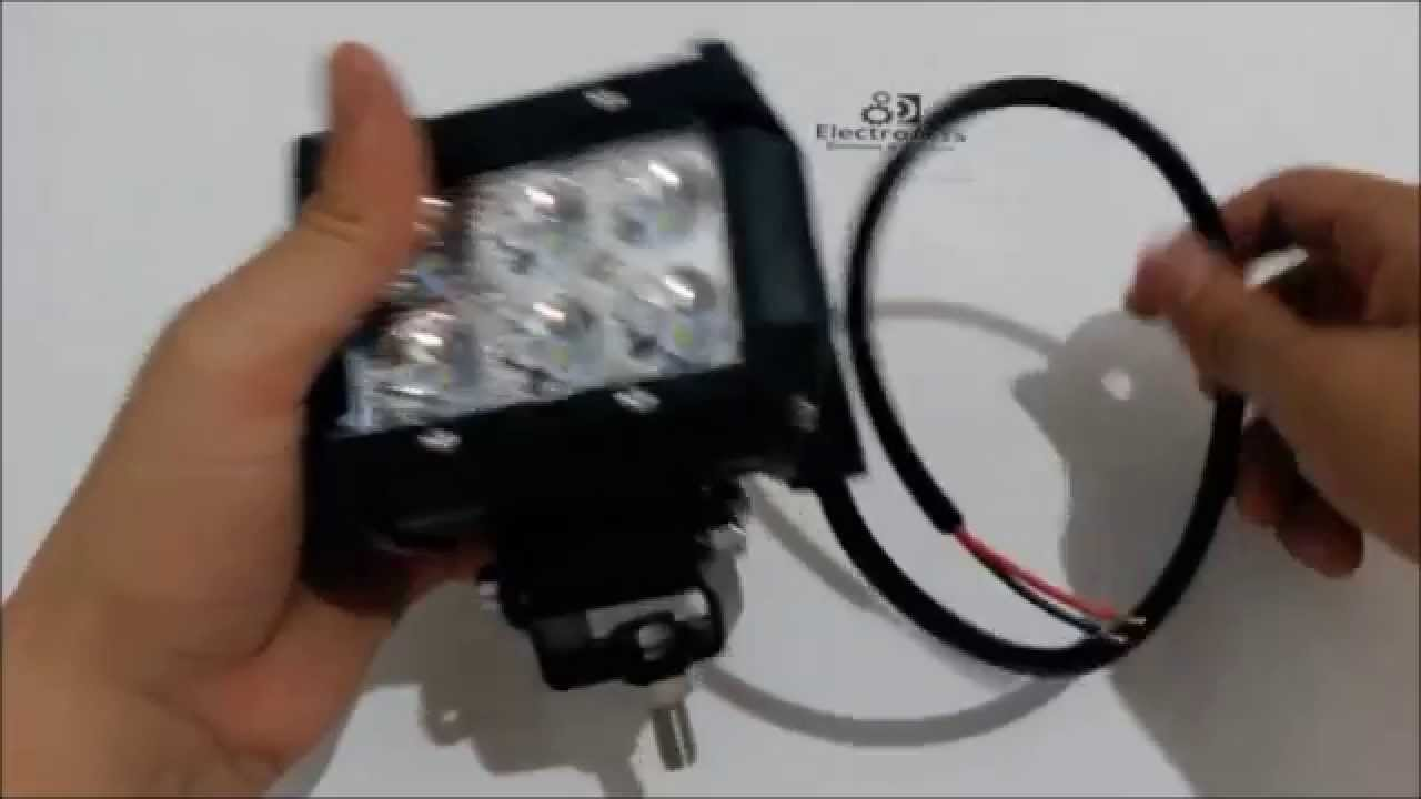Luces exploradoras led para motos carros maquinaria 18w - Como instalar lamparas led ...