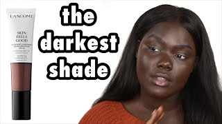 Tinted Moisturizer for Dark Skin?!? Lancôme Skin Feels Good Foundation || Nyma Tang #thedarkestshade