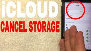✅ How To Caฑcel iCloud Storage Plan 🔴