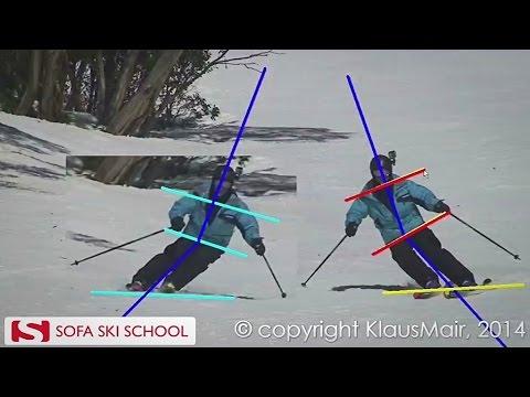 Superior Sofa Ski School   Ski Analysis, Hip Position
