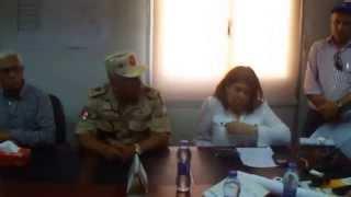 وزير الرى فى موقع نقل سحارة ترعة سيناء أسفل القناة الجديدة