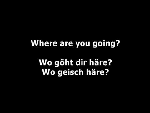 Swiss German Lesson