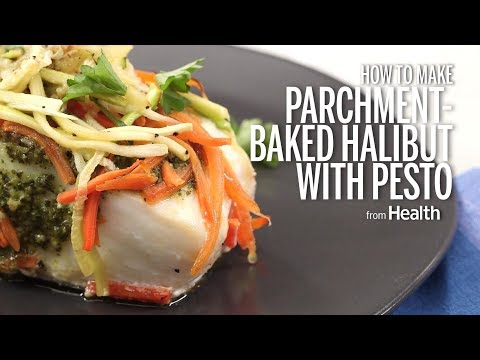 How To Make Parchment-Baked Halibut With Pesto | Health