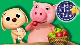 Learn with Little Baby Bum | The Pig Eats an Apple | Nursery Rhymes for Babies | Songs for Kids