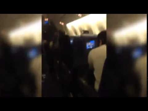 Terrified screams of passengers on board turbulent flight