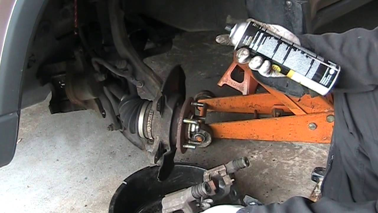 How to replace brake pads and rotors, 2001 Honda CRV - YouTube