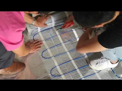 Senphus underfloor heating mats for bathroom installation Guide