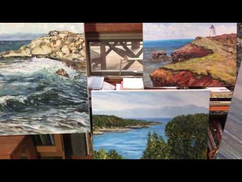 Artist Terrill Welch preparing for 2017 Canadian landscape painting shows