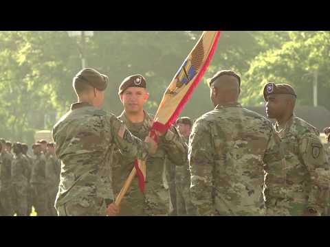 Unusual Change Of Command Ceremony For 1st SFAB