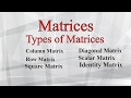 Different Types of Matrices with Example