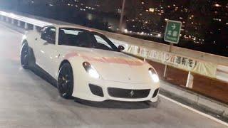 【辰巳PA】スーパーカー加速サウンド/Supercars sound in Tatsumi. Aventador, 599GTO, F355, R35 HIACE, and  more❗️