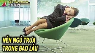 Nên ngủ trưa trong bao lâu thì tốt nhất cho sức khỏe và công việc