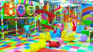 Mainan Anak Indoor Playground Permainan Naik Odong Odong Mobil Mobilan Mandi Bola Ayunan Perosotan