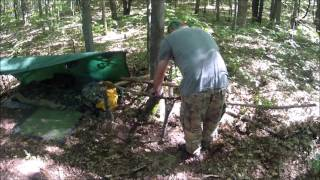 Making A Bush Craft Tree Chair