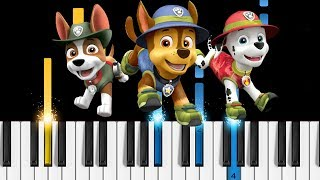 PAW Patrol Theme Song - Piano Tutorial / Piano Cover