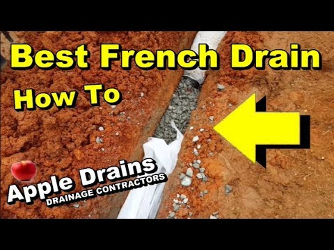 How To Install The Best French Drain
