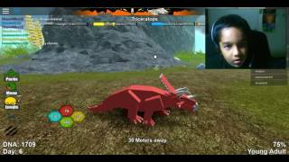 Roblox Dinosaur Simulator ||| Challenge Triceratops part3 ||| young adult to adult ||| Hrithik