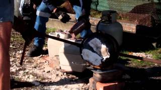 Casting two stroke cylinders in the backyard