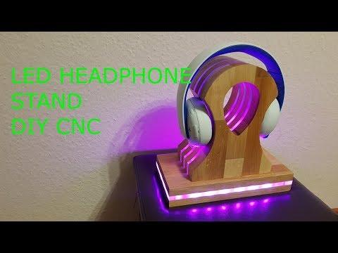 DIY Headphone Stand LED  Kopfhörer LED ständer