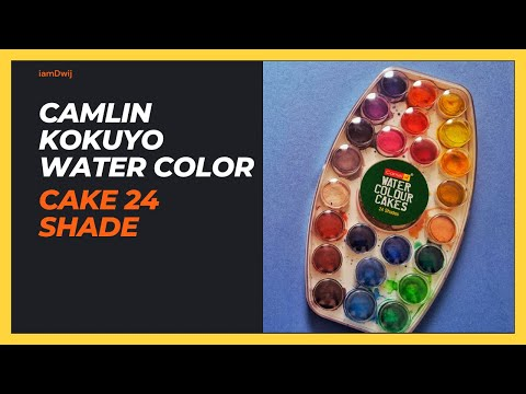 Water Color Cake 24 Shade Plastic Box India Youtube