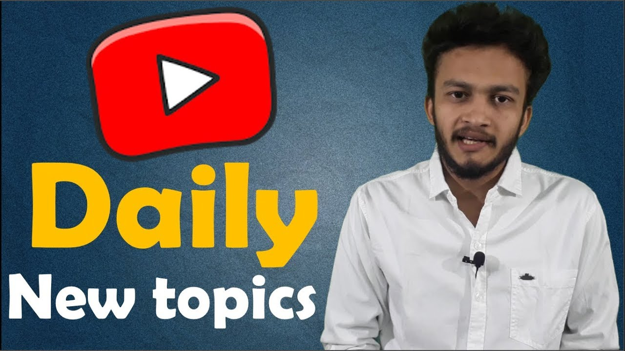Hindi How To Find Daily New Topics For Your Youtube Videos Youtuber Technology Topics Part 1