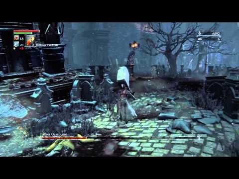 Bloodborne - Father Gascoigne Boss Fight + Using Tiny Music Box Makes For A Fast Fight